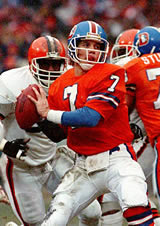 John Elway, from an AP photo during The Drive