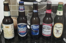 Five beers from various socioeconomic backgrounds